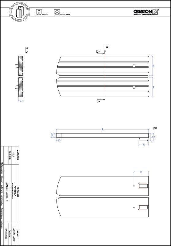 Súbor CAD škridly PROFIL segmentový vzor BKBI-LH