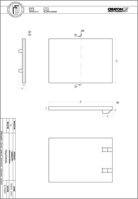 Súbor CAD škridly AMBIENTE segmentový rez SEG-TRAUFZIEGEL