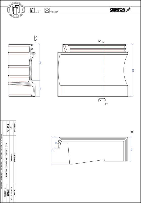 Súbor CAD škridly TERRA OPTIMA pultová škridľa pravá PULTOGR