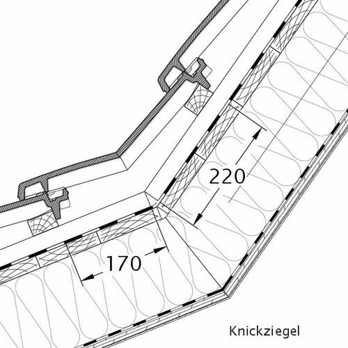 Technický výkres škridly VISIO lomená škridľa KNZ