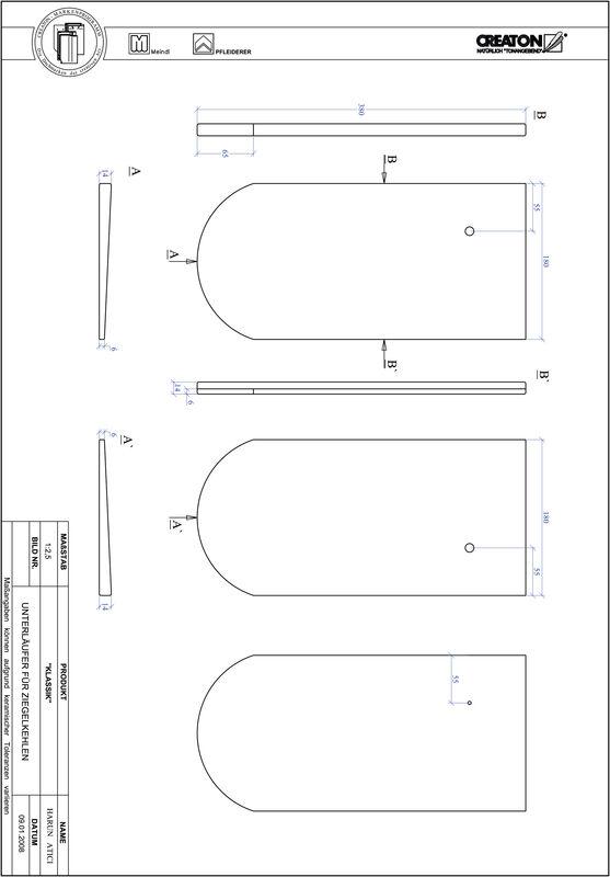 Súbor CAD škridly KLASSIK zaoblený vzor RUND-UNTERLAEUFER