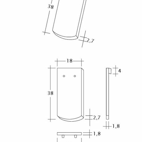 Technický výkres škridly SAKRAL Seg-1-1