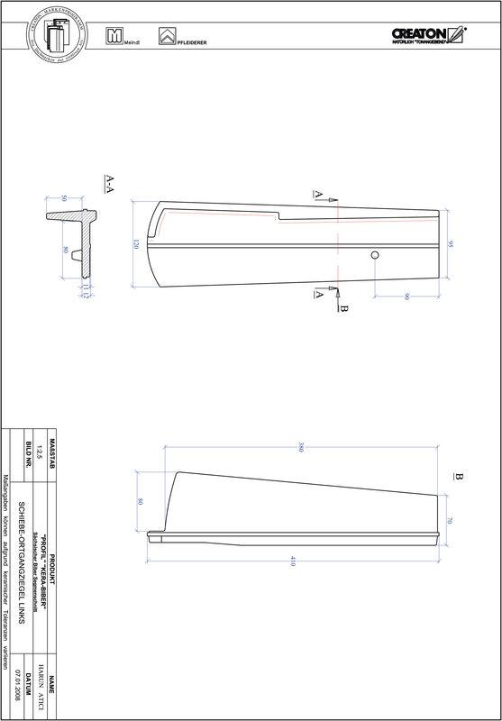 Súbor CAD škridly PROFIL segmentový vzor KERA-SAECHS-18-CM-OGL
