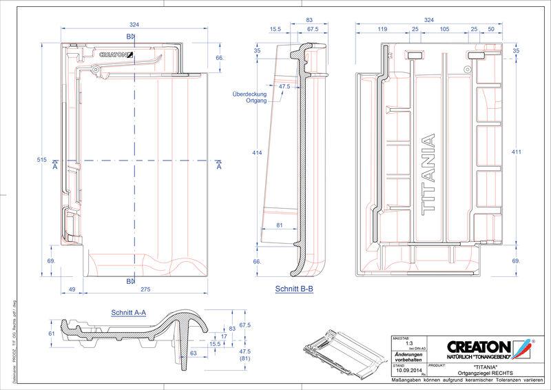 Súbor CAD škridly TITANIA krajná škridľa pravá OGR