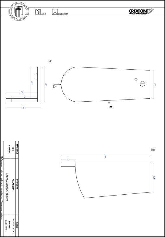 Súbor CAD škridly KLASSIK zaoblený vzor RUND-OGR-3-4