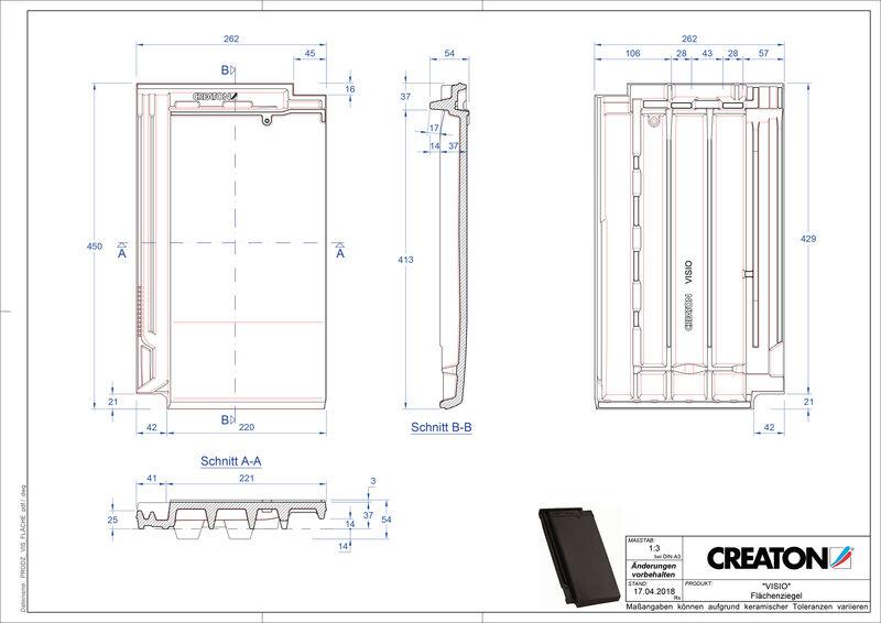 Súbor CAD škridly VISIO škridľa FLA