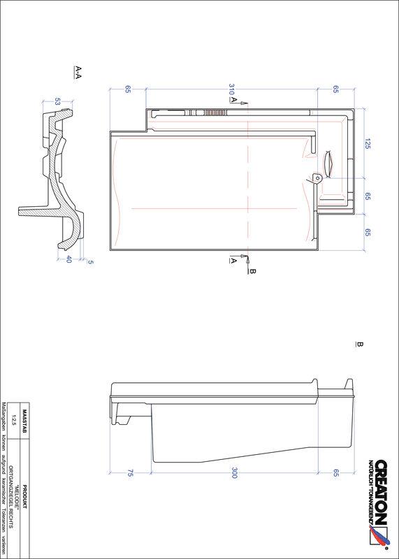 Súbor CAD škridly MELODIE krajná škridľa pravá OGR